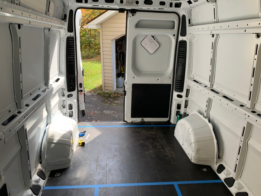 Empty van pre-renovation.